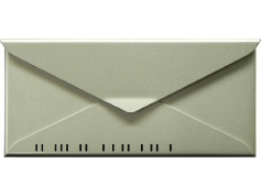 houseArt No. 10 Letterbox - bright silver