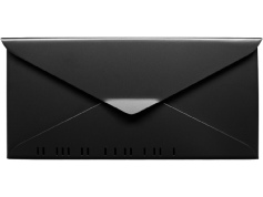 houseArt No. 10 Letterbox - satin black
